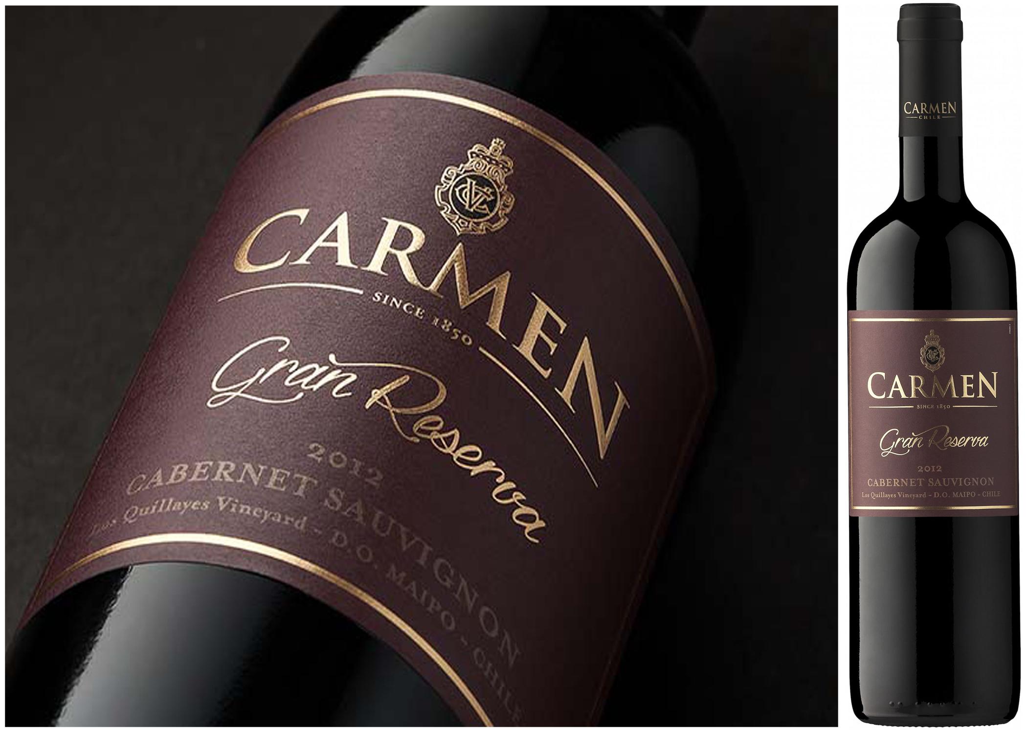 Kết quả hình ảnh cho carmen GRAN RESERVA cabernet sauvignon